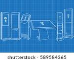 blueprint of promotional... | Shutterstock .eps vector #589584365