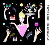 abstract woman  fashion pop art ...   Shutterstock .eps vector #589586261