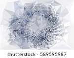 abstract multicolor mosaic... | Shutterstock .eps vector #589595987