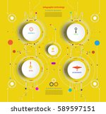 infographic template timeline... | Shutterstock .eps vector #589597151