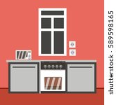 kitchen | Shutterstock .eps vector #589598165