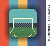 football goal flat icon with...   Shutterstock .eps vector #589603931