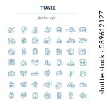 vector graphic set. icons in... | Shutterstock .eps vector #589612127