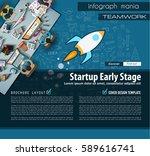 startup landing page brochure... | Shutterstock . vector #589616741