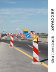 road signs in a highway on... | Shutterstock . vector #58962289
