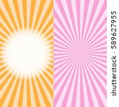 multi color sunbeams background.... | Shutterstock .eps vector #589627955