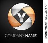 letter y vector logo symbol in... | Shutterstock .eps vector #589630577
