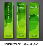 template vertical banners with... | Shutterstock .eps vector #589638569