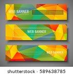 design horizontal web banners... | Shutterstock .eps vector #589638785