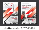 red color scheme with city... | Shutterstock .eps vector #589640405