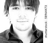 black   white portrait of a man | Shutterstock . vector #58964473