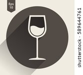 wine flat icon. simple sign of... | Shutterstock .eps vector #589644761