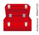 red box tools open icon  vector ... | Shutterstock .eps vector #589647125