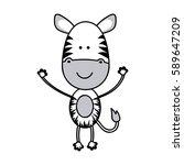 Color Teddy Zebra Icon  Vector...