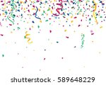 confetti abstract background... | Shutterstock .eps vector #589648229