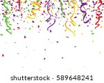 confetti abstract background... | Shutterstock .eps vector #589648241