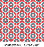 seamless retro pattern with... | Shutterstock .eps vector #589650104