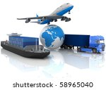 types of transport of... | Shutterstock . vector #58965040