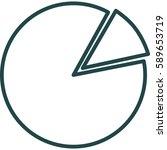 pie chart icon illustration... | Shutterstock .eps vector #589653719