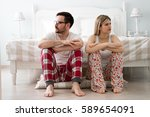 couple having dispute and... | Shutterstock . vector #589654091