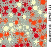 seamless pattern. multi colored ... | Shutterstock .eps vector #589654811