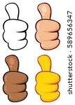 cartoon hand giving thumbs up... | Shutterstock .eps vector #589656347
