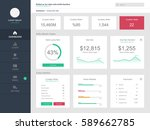 dashboard user admin panel... | Shutterstock .eps vector #589662785
