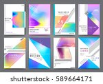 business brochure vector set | Shutterstock .eps vector #589664171