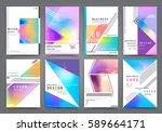 business brochure vector set   Shutterstock .eps vector #589664171