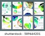 business brochure vector set | Shutterstock .eps vector #589664201