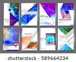 business brochure vector set | Shutterstock .eps vector #589664234