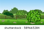 summer landscape background....   Shutterstock .eps vector #589665284
