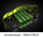 3d rendering  electric vehicle...   Shutterstock . vector #589677815