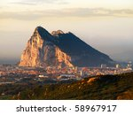 The Rock Of Gibraltar In The...