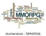 mmorpg   massively multiplayer... | Shutterstock .eps vector #58969036