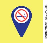 map pin icon with no smoking | Shutterstock .eps vector #589692281