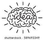 idea symbol | Shutterstock .eps vector #589693349