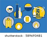 oil and gas icons design  the... | Shutterstock .eps vector #589693481