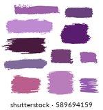 purple  violet vector brush... | Shutterstock .eps vector #589694159