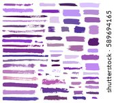 purple  violet vector brush... | Shutterstock .eps vector #589694165