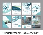 set of modern business paper... | Shutterstock .eps vector #589699139