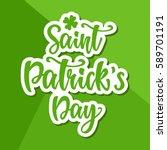saint patrick's day greeting... | Shutterstock .eps vector #589701191