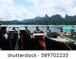 khao sok national park in... | Shutterstock . vector #589702235