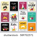 easter illustration | Shutterstock .eps vector #589702571