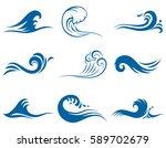 blue waves | Shutterstock .eps vector #589702679
