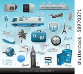 travel icons symbol collection. ... | Shutterstock .eps vector #58970371