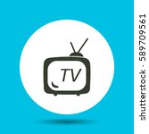 tv icon. tv vector isolated.... | Shutterstock .eps vector #589709561