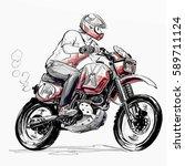 boy riding motorcycle   Shutterstock . vector #589711124