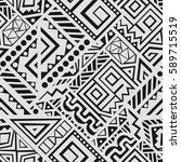 creative ethnic style square... | Shutterstock .eps vector #589715519