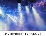 stage lights. soffits. concert... | Shutterstock . vector #589723784